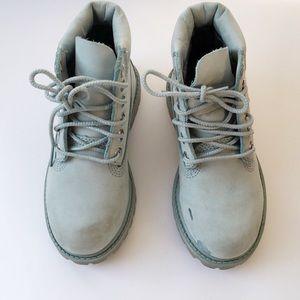 Light blue kids timberland boots